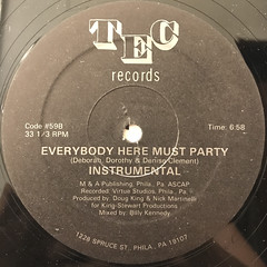 DIRECT CURRENT:EVERYBODY HERE MUST PARTY(LABEL SIDE-B)