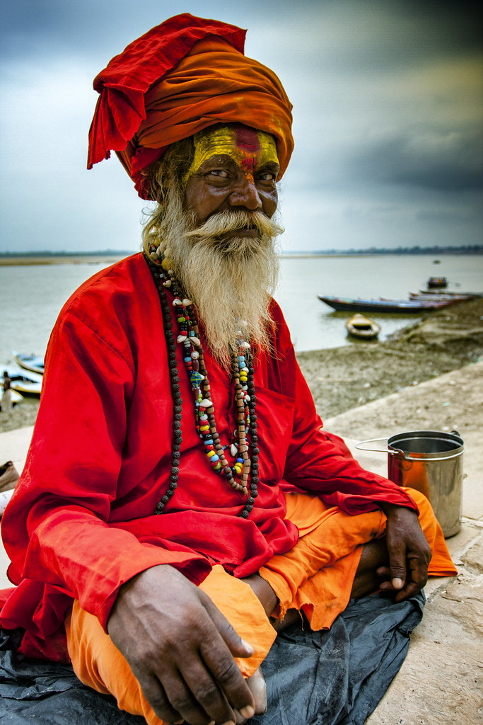 An Indian Sadhu In Varanasi