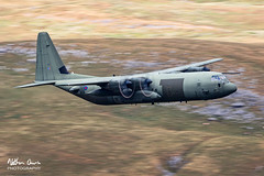 RAF Hercules ZH877 low level in Northern England