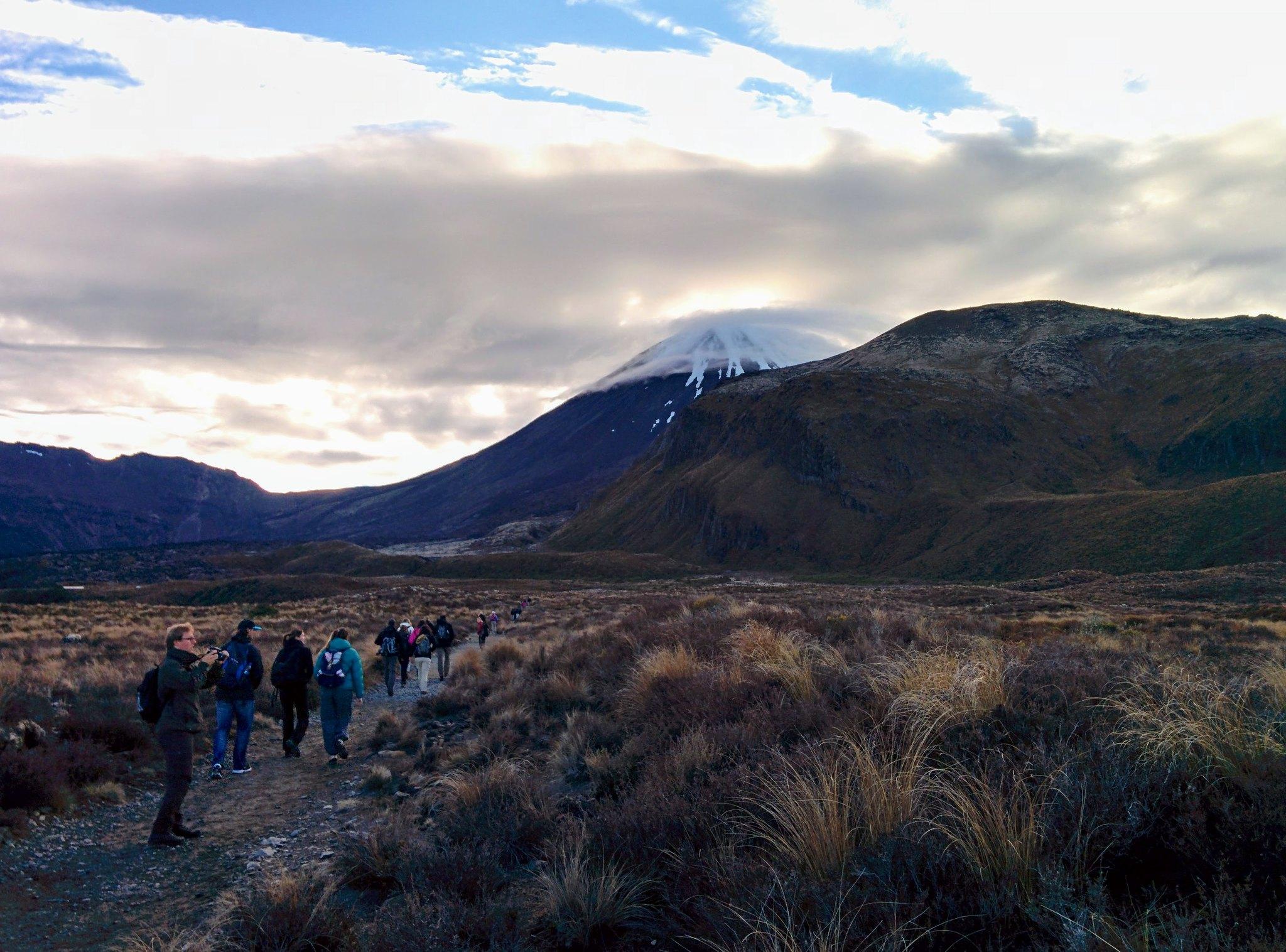 Mount Ngauruhoe in the distance