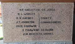 Ellis County Courthouse Cornerstone (Waxahachie, Texas)
