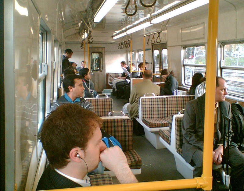 Hitachi train, June 2008