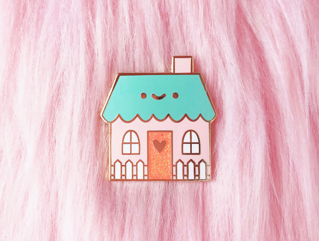 Happy House Enamel Pin