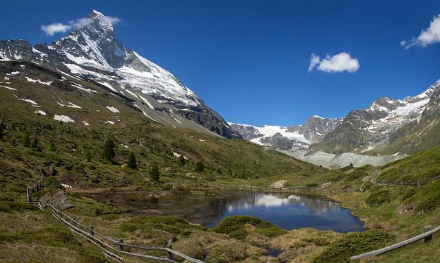 Alpine summer time, the Matterhorn and The Z'mutt Valley.30.06.18, 11:47:18 . Izakigur No. 928 929.