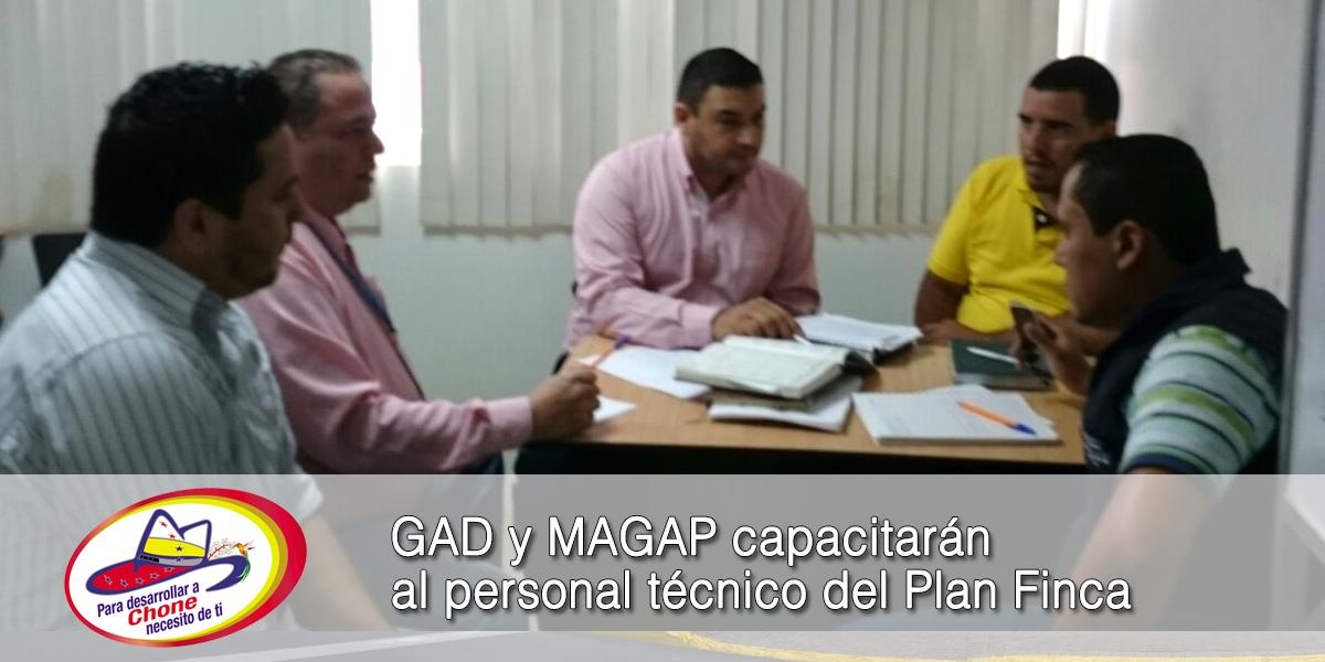 GAD y MAGAP capacitarán al personal técnico del Plan Finca