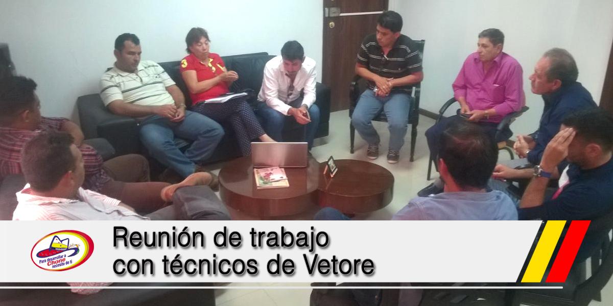 Reunión de trabajo con técnicos de Vetore