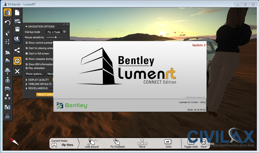 Working with Bentley LumenRT Connect Edition 16.10.39.16 full