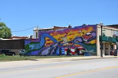 Mural on Route 66 in Waynesville, Missouri