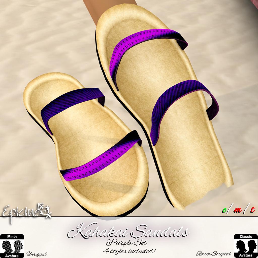 Epicine - Kahakai Sandals - Purple Set - TeleportHub.com Live!