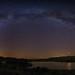 Via lactea sobre la laguna Negra - Milky way over black lagoon by teredura58