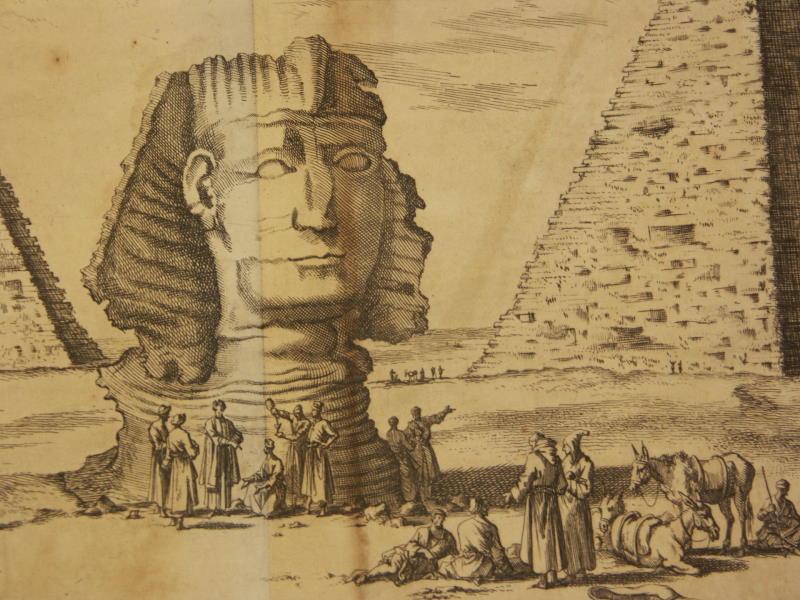 The Great Sphinx of Giza in Cornelis de Bruijn', Reizen van Cornelis de Bruyn door de vermaardste Deelen van Klein Asia (1698)