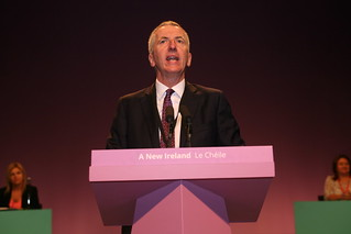 Máirtín Ó Muilleoir speaking during a debate.