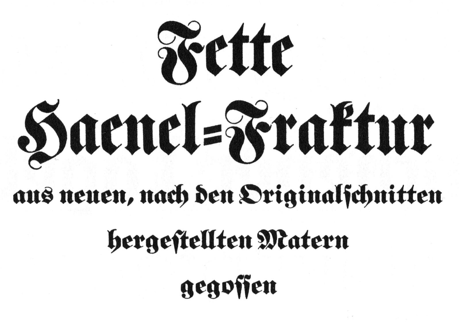 Fette Haenel-Fraktur
