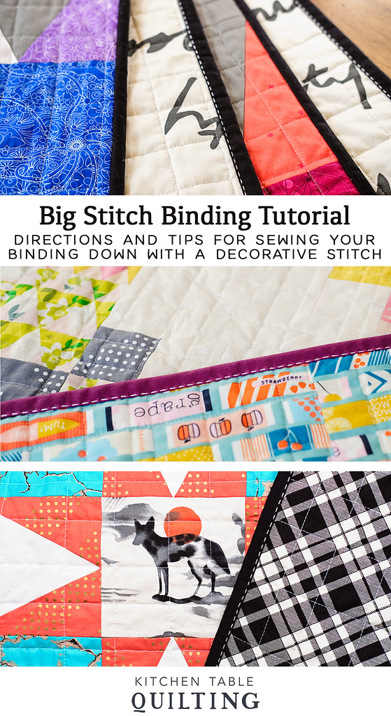 Big Stitch Binding Tutorial - Kitchen Table Quilting