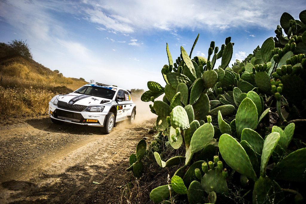 10 AVCIOGLU Orhan (TUR), KORKMAZ Burcin (TUR), TOKSPORT WRT, SKODA FABIA R5, action during the 2018 European Rally Championship ERC Cyprus Rally,  from june 15 to 17 at Larnaca, Cyprus - Photo Thomas Fenetre / DPPI