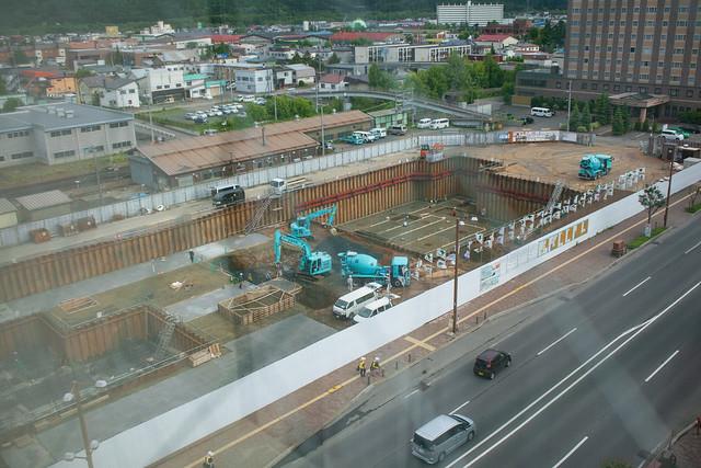 北見市役所建設中