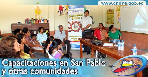 Capacitaciones en San Pablo y otras comunidades