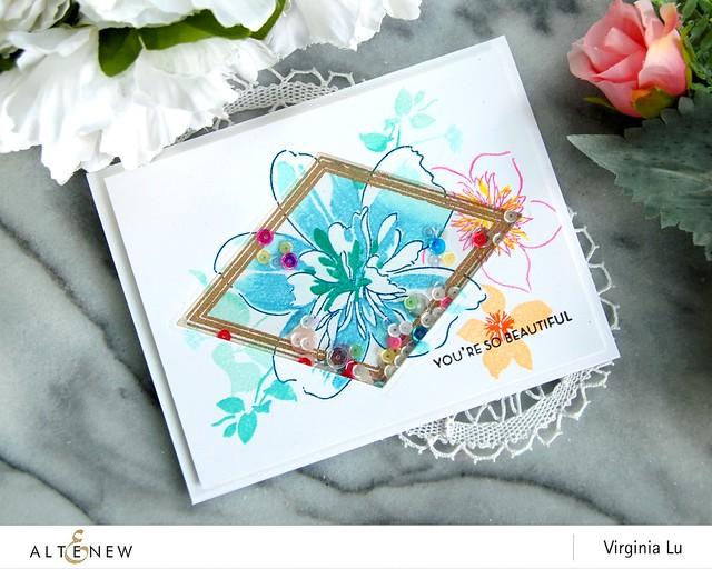 Altenew-FloralArt-GeoFrameStampDie-Virginia#3