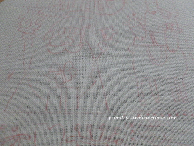 Redwork Embroidery Stitch Along at FromMyCarolinaHome.com