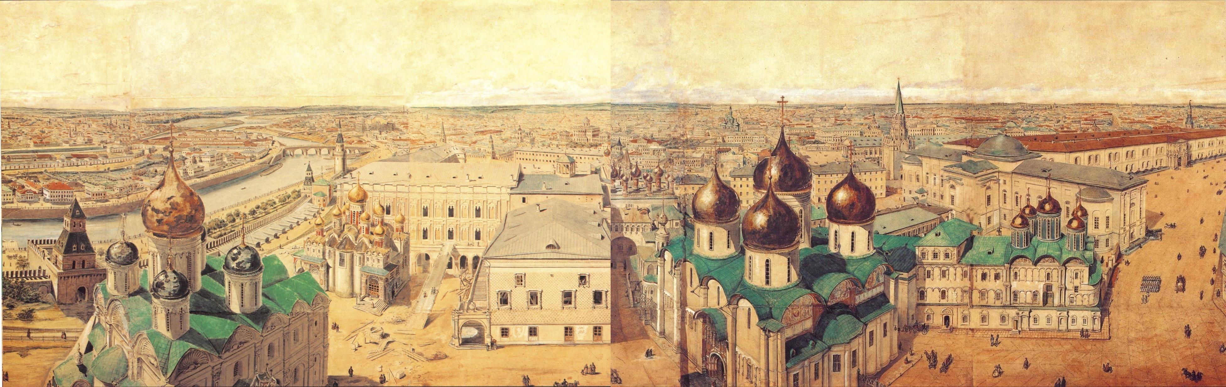 1845. Панорама Москвы и окрестностей.
