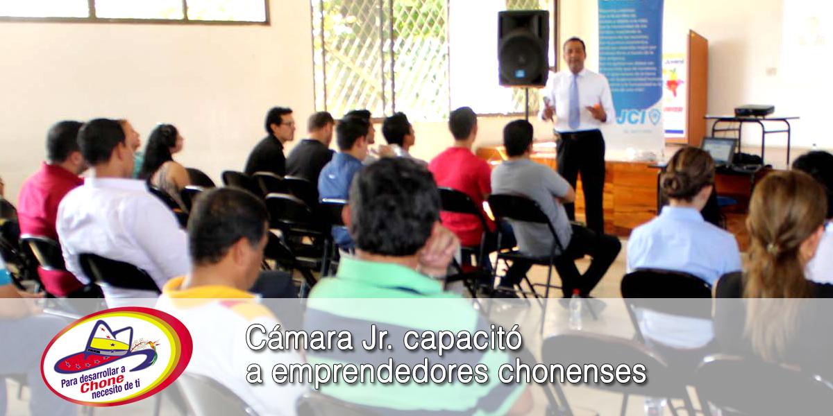 Cámara Jr. capacitó a emprendedores chonenses