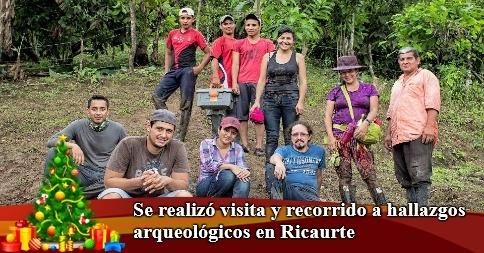 Se realizó visita y recorrido a hallazgos arqueológicos en Ricaurte