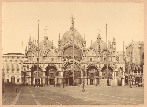Old Photograph of Venice outside the Duke's Palace