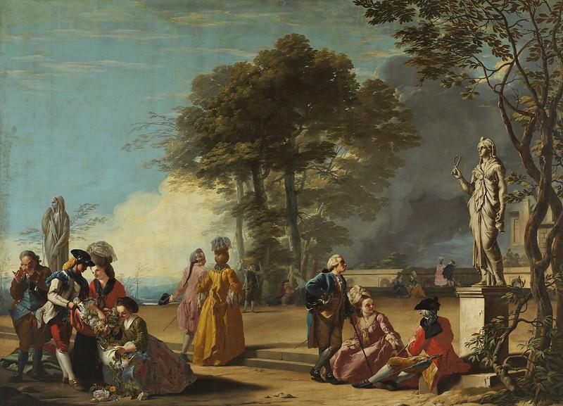José del Castillo - El parque del Retiro con paseantes (1779)