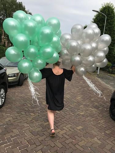 Heliumballonnen Lichtgroen en Wit