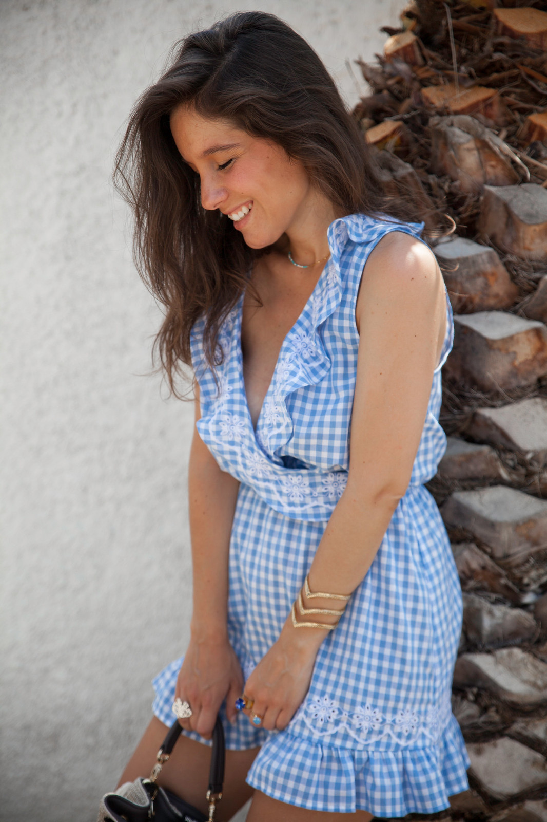06_Revolve_dress_tularosa_gingham_style_outfit_theguestgirl_influencer_barcelona_spain