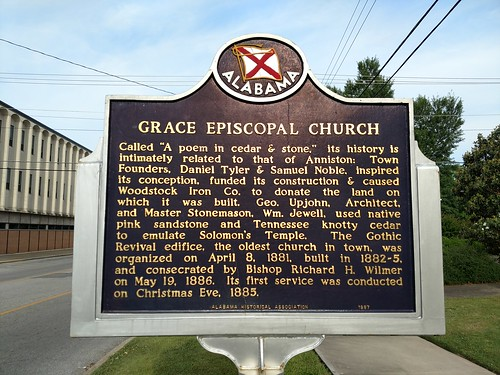 Anniston, Alabama - Grace Episcopal Church Historical Marker