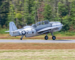 Michael Kopp piloting his 1945 Grumman TBM-3E Avenger Ida Red NL9584Z