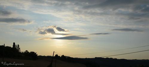 Plutôt bleu, le coucher du soleil