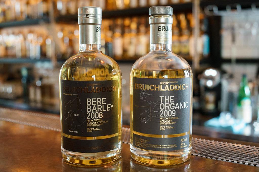 Bruichladdich Bare Barley 2008 / The Organic 2009