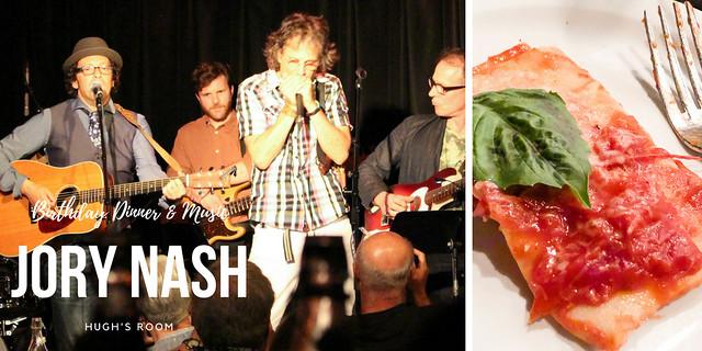 Dinner at Jory Nash's Performance at Hugh's Room