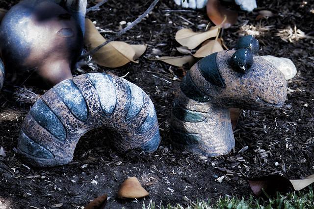 Nessie yard art