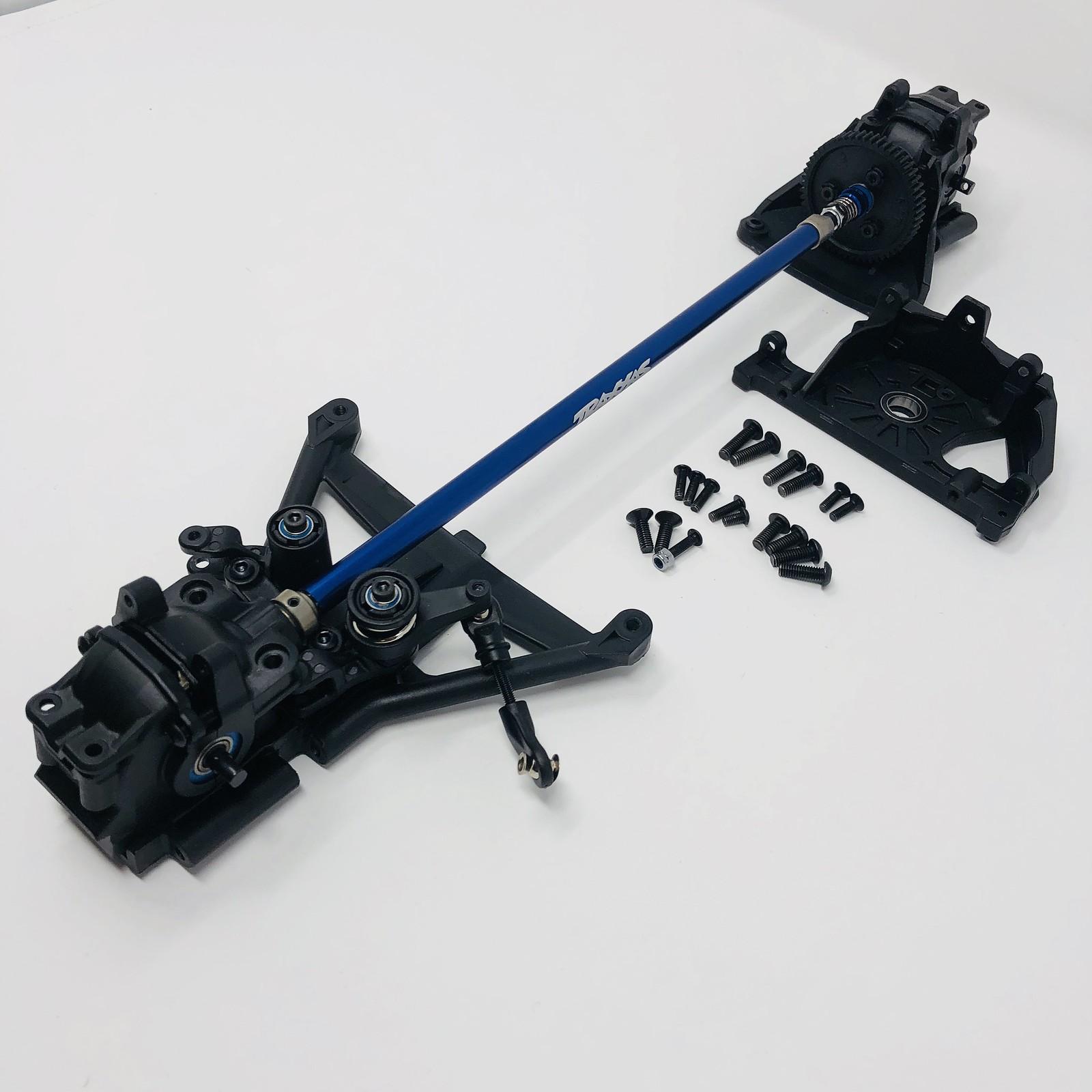 Traxxas Complete Front Gearbox E-Revo 2.0 VXL Rear Diff /& Centre Driveshaft