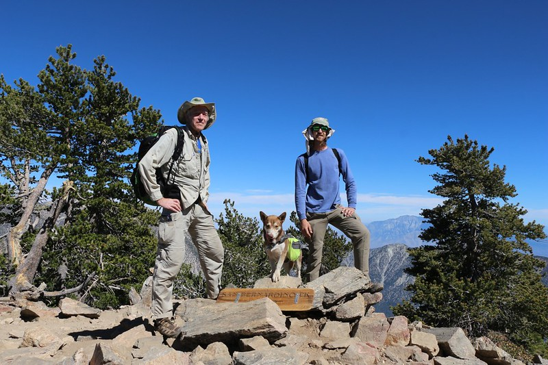 My son and I on the San Bernardino Peak summit