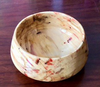 Flame Box Elder, Epoxy finish, 6 x 3, #172