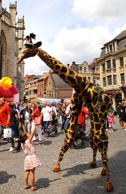 De giraffen van Teatro Pavana @ De Langste Dag in Leuven (23/06/2018)
