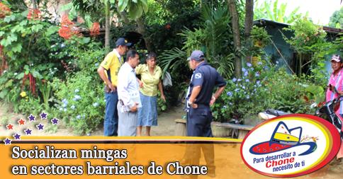 Socializan mingas en sectores barriales de Chone