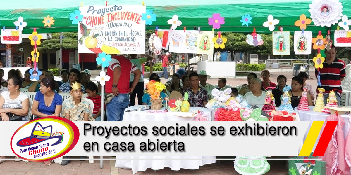 Proyectos sociales se exhibieron en casa abierta