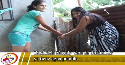 Ciudadela Magaly Vera de Colamarco ya tiene agua potable