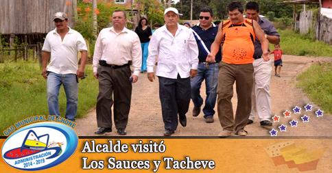 Alcalde visitó Los Sauces y Tacheve