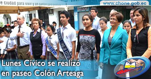 Lunes Cívico se realizó en paseo Colón Arteaga