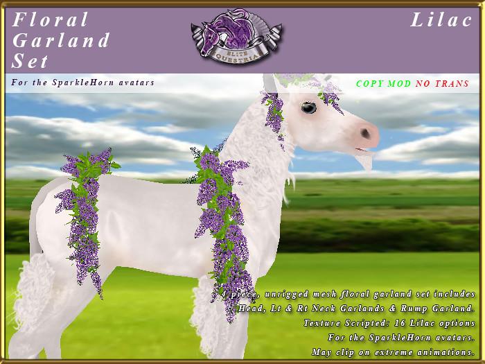 E-SparkleHorn-GarlandSet-Lilac - TeleportHub.com Live!
