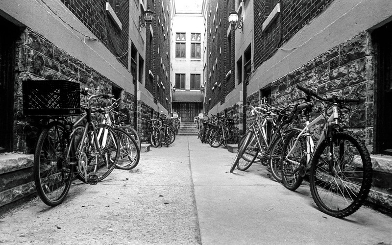 Apartment Front Entrace Bike Parking