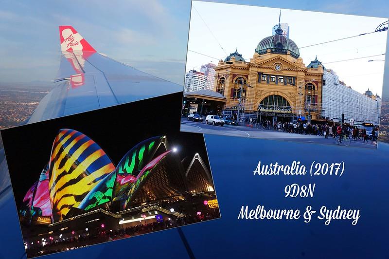 2017 Australia Melbourne & Sydney Cover