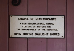 for use of visitors and the remembrance of the departed