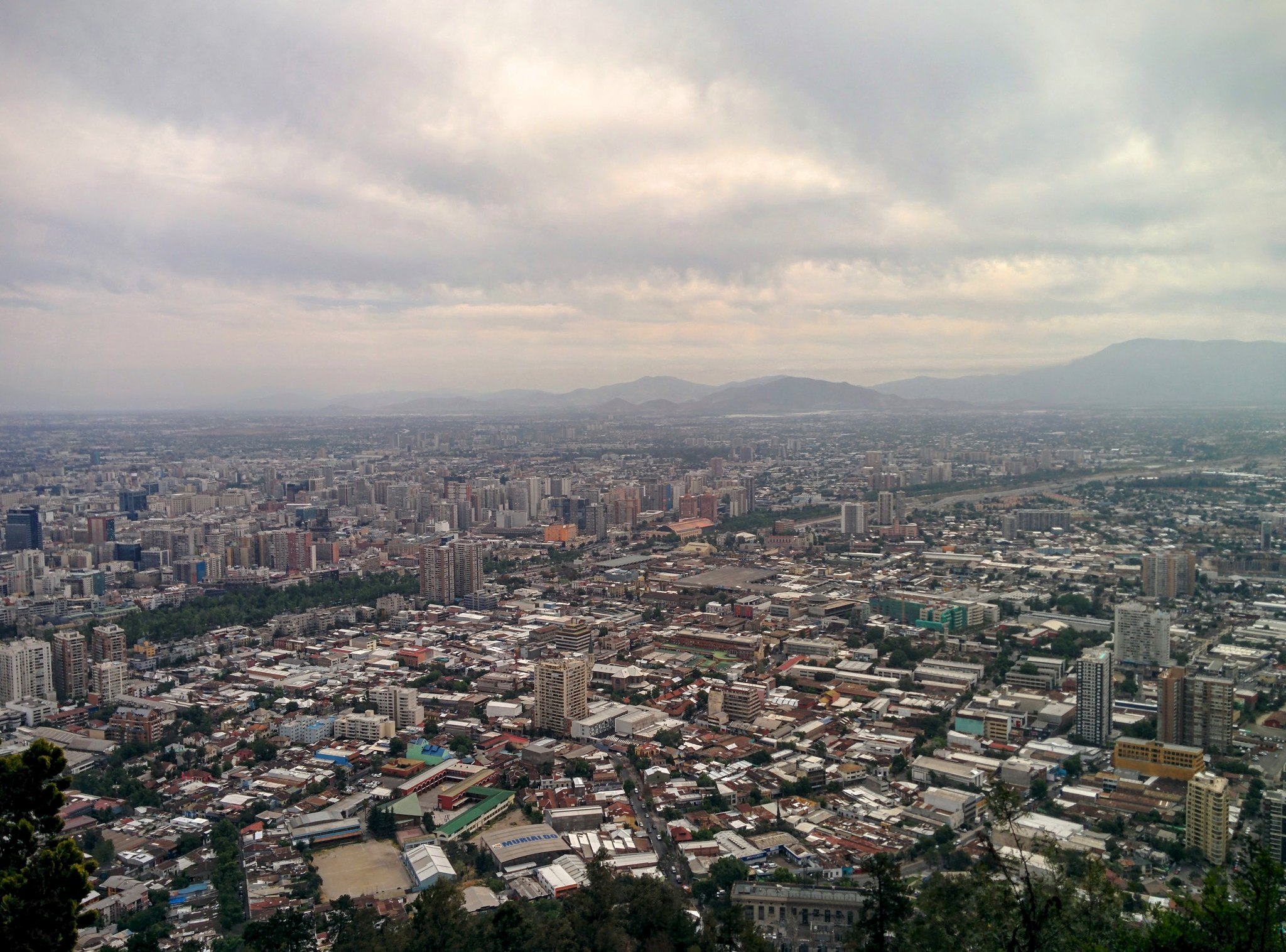 A view of Santiago from Cerro San Cristobal